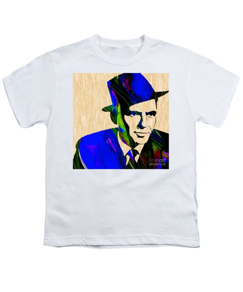 Youth T-Shirt featuring the mixed media Frank Sinatra Painting by Marvin Blaine