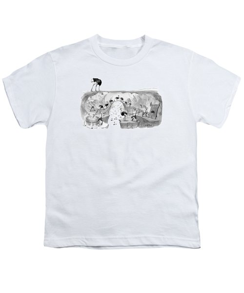 New Yorker October 31st, 2016 Youth T-Shirt by Will McPhail
