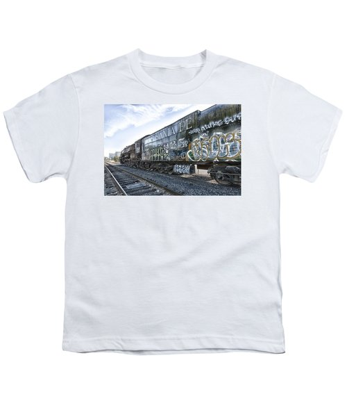 Youth T-Shirt featuring the photograph 4 8 4 Atsf 2925 In Repose by Jim Thompson