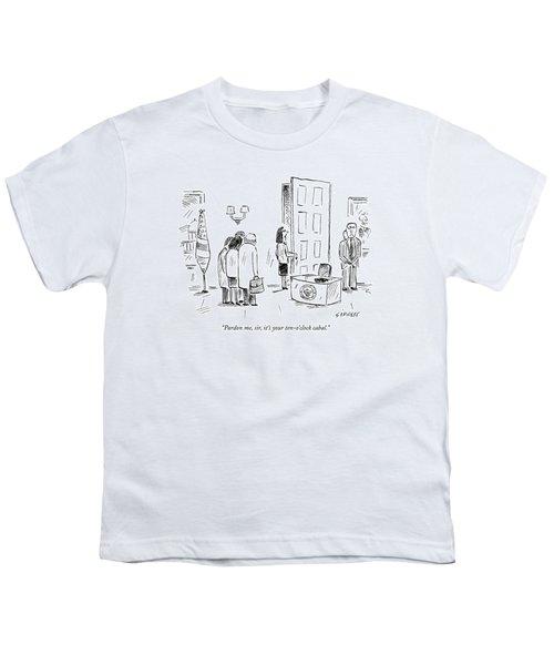 Pardon Me, Sir, It's Your Ten-o'clock Cabal Youth T-Shirt by David Sipress