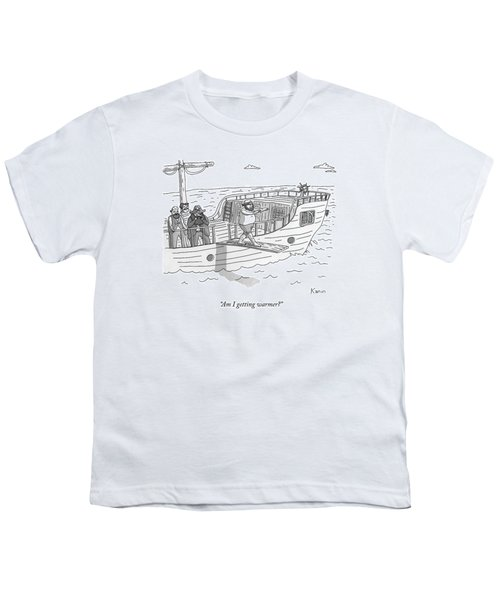 A Blindfolded Pirate Walks The Plank Youth T-Shirt