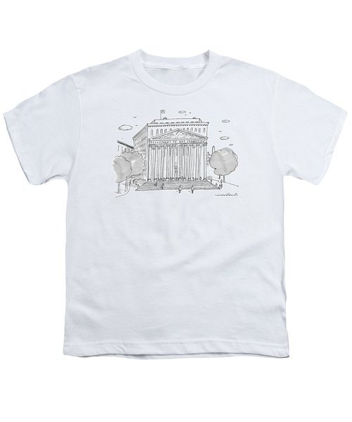 A Building In Washington Dc Is Shown Youth T-Shirt by Michael Crawford