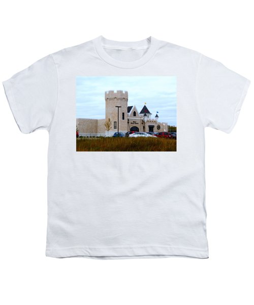 A Cheese Castle Youth T-Shirt by Kay Novy
