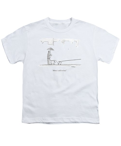 A Dog On A Very Long Leash Explains To Another Youth T-Shirt