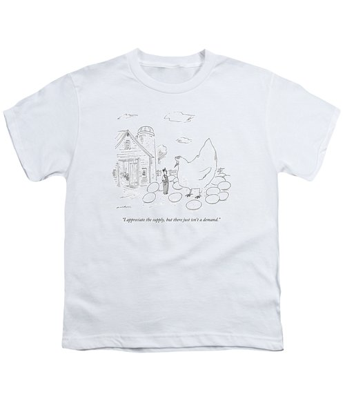 A Farmer Says To An Enormous Hen Surrounded Youth T-Shirt