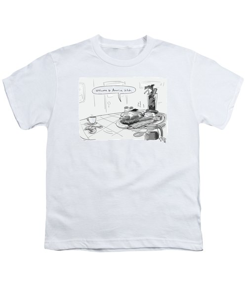 A Greasy Plate Of Pancakes Youth T-Shirt