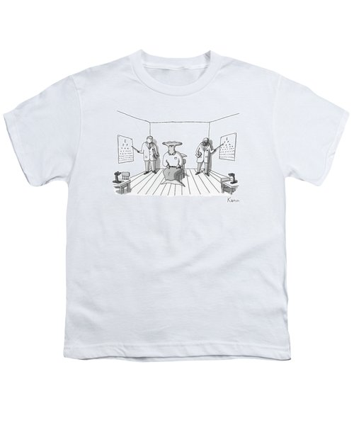 A Hammerhead Shark Gets His Eyesight Check By Two Youth T-Shirt