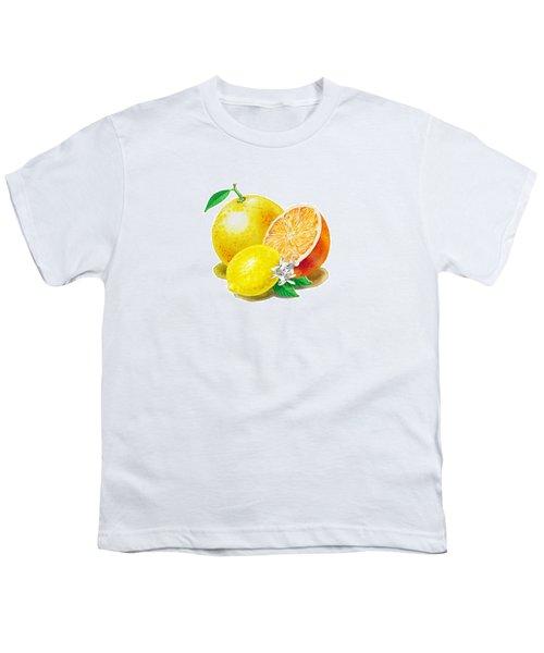A Happy Citrus Bunch Grapefruit Lemon Orange Youth T-Shirt
