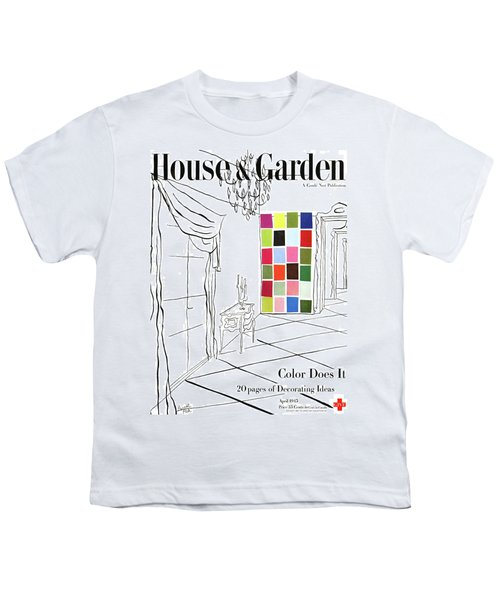 A House And Garden Cover Of Color Swatches Youth T-Shirt