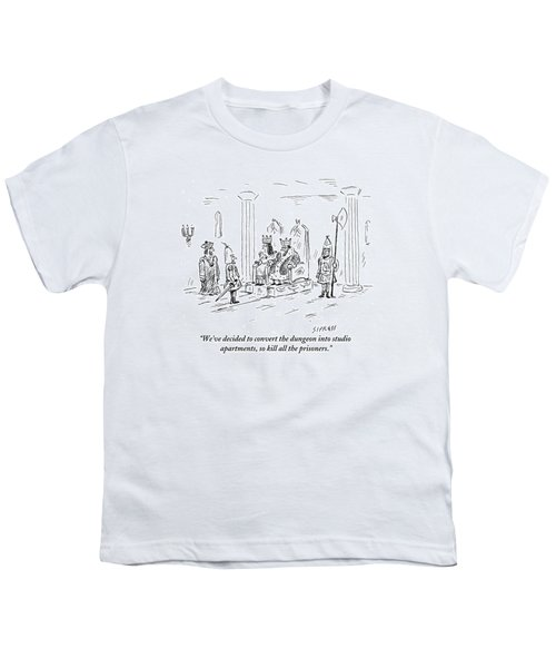 A King And Queen In The Royal Court Give Orders Youth T-Shirt
