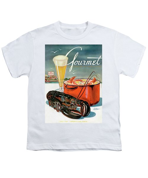 A Lobster And A Lobster Pot With Beer Youth T-Shirt by Henry Stahlhut