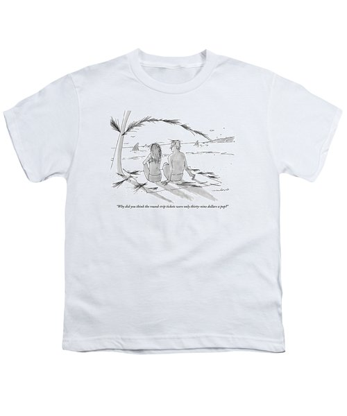 A Man And A Woman Spend A Cheap Vacation Youth T-Shirt