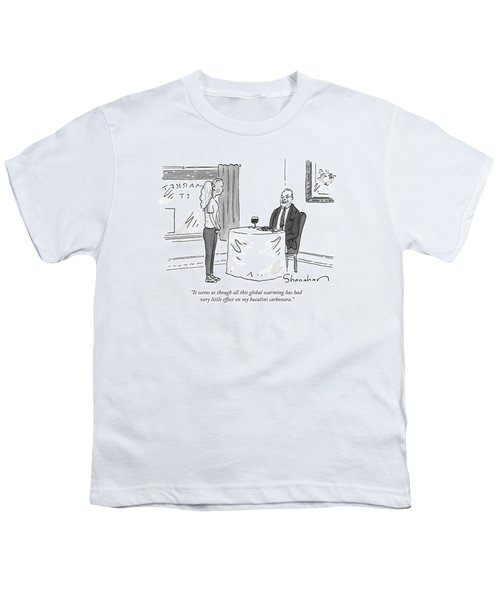 A Man Speaks To A Waitress Youth T-Shirt