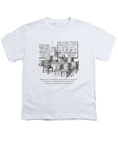 A Mathematician In A Room Full Of Stacked Papers Youth T-Shirt