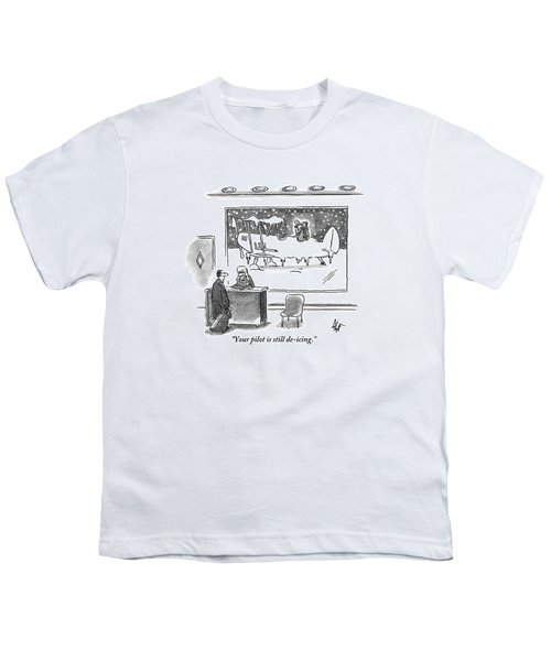 A Passenger Watches An Airplane In The Freezing Youth T-Shirt