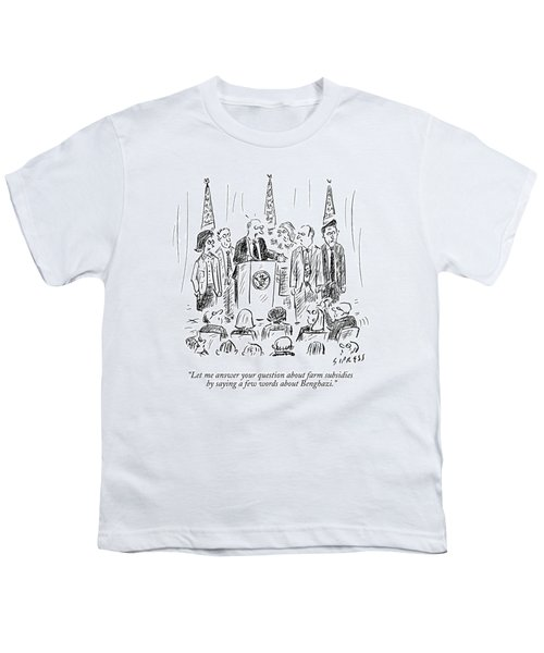 A Politician Speaks At A Podium Youth T-Shirt