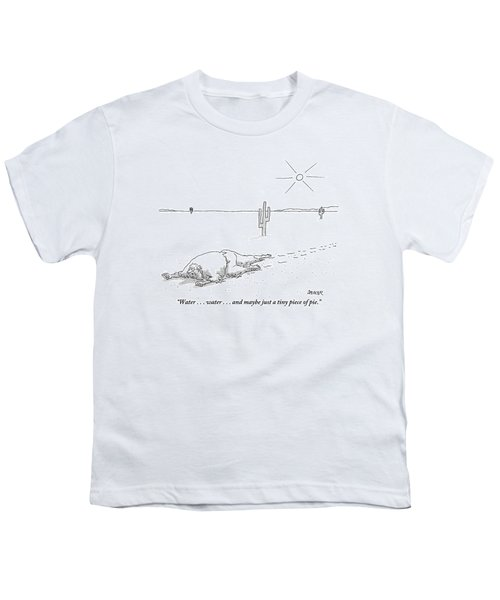 A Scruffy-looking Man Crawls Through The Desert Youth T-Shirt