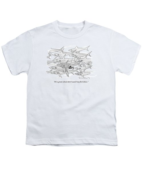 A Smaller Fish Is Talking To Other Larger Fish Youth T-Shirt