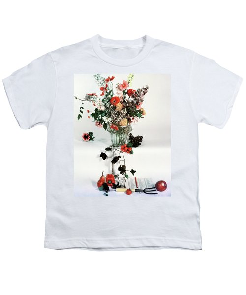 A Studio Shot Of A Vase Of Flowers And A Garden Youth T-Shirt