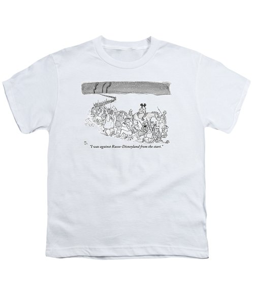 A Trail Of People And Disney Characters March Youth T-Shirt