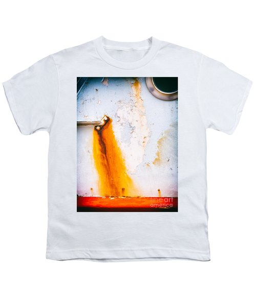 Youth T-Shirt featuring the photograph Abstract Boat Detail by Silvia Ganora
