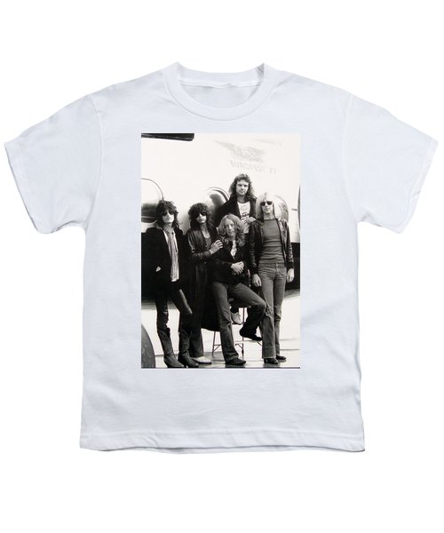 Aerosmith - Eurofest Jet 1977 Youth T-Shirt by Epic Rights