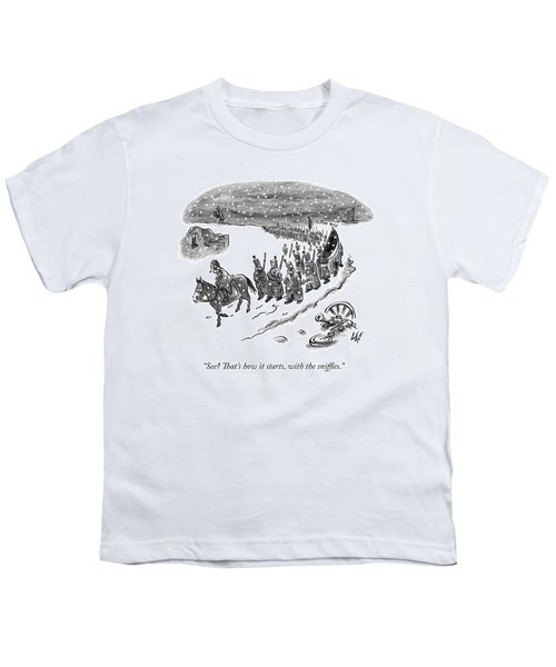 An Army Of Napoleonic Soldiers Walk Home Though Youth T-Shirt