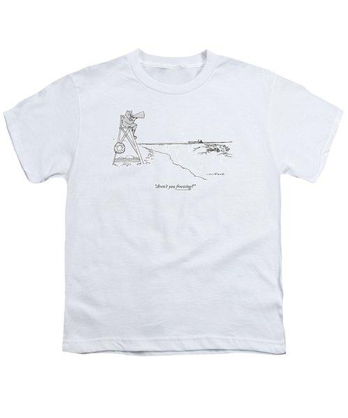 An Eskimo With A Megaphone Sits Atop A Lifeguard Youth T-Shirt