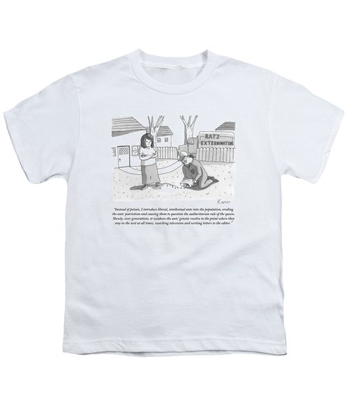 An Exterminator Explains What He Is Doing Youth T-Shirt
