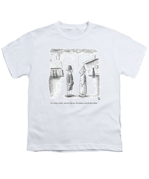 An Indian Chief Speaks To A Pilgrim Youth T-Shirt
