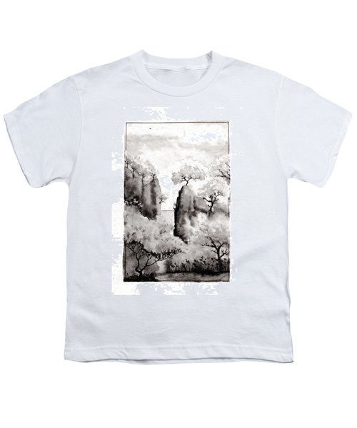 Youth T-Shirt featuring the painting Arbres Separes by Marc Philippe Joly