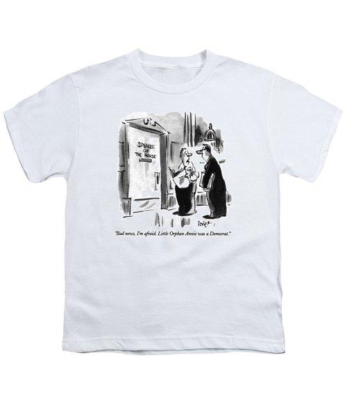 Bad News, I'm Afraid.  Little Orphan Annie Youth T-Shirt by Lee Lorenz