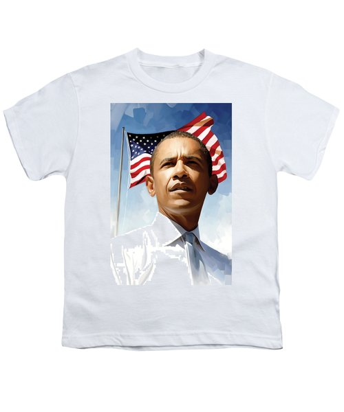 Barack Obama Artwork 1 Youth T-Shirt