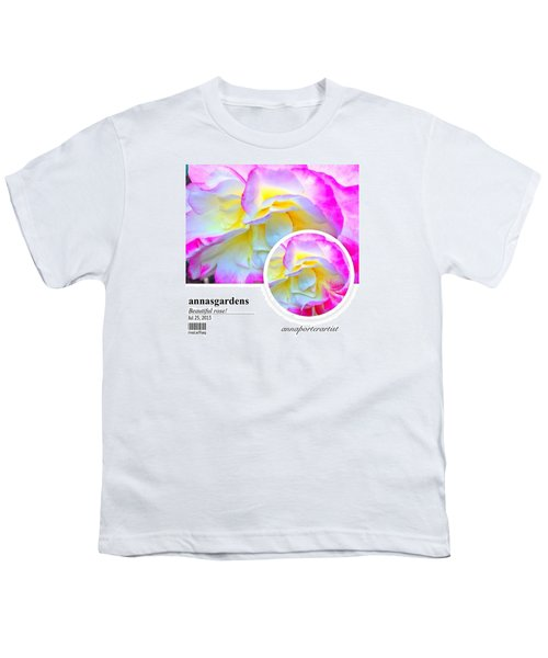 Beautiful Pink And Yellow Rose Youth T-Shirt