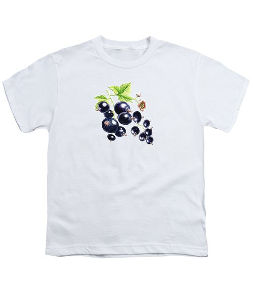Youth T-Shirt featuring the painting Blackcurrant Berries  by Irina Sztukowski