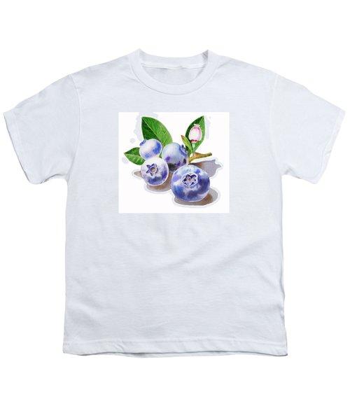 Artz Vitamins The Blueberries Youth T-Shirt by Irina Sztukowski
