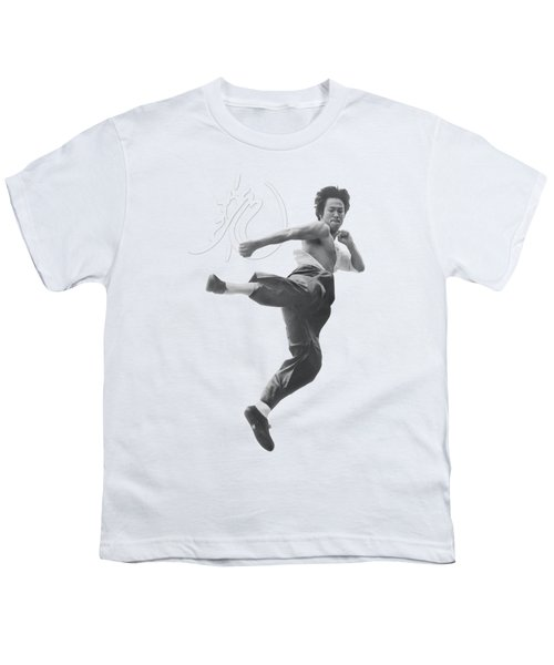 Bruce Lee - Flying Kick Youth T-Shirt