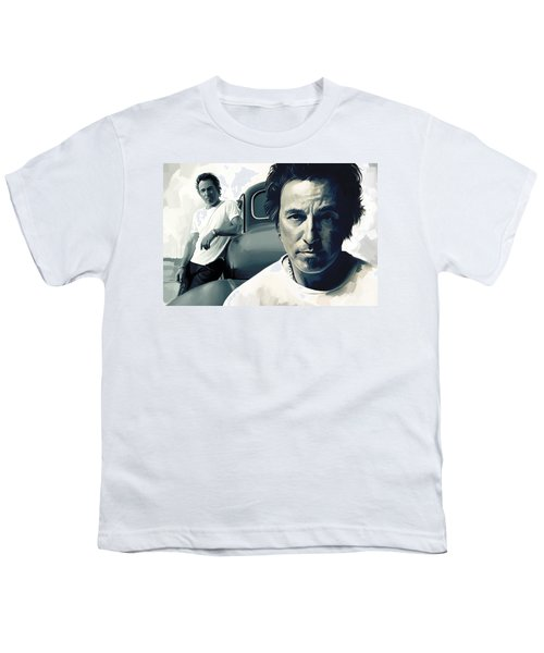 Bruce Springsteen The Boss Artwork 1 Youth T-Shirt by Sheraz A