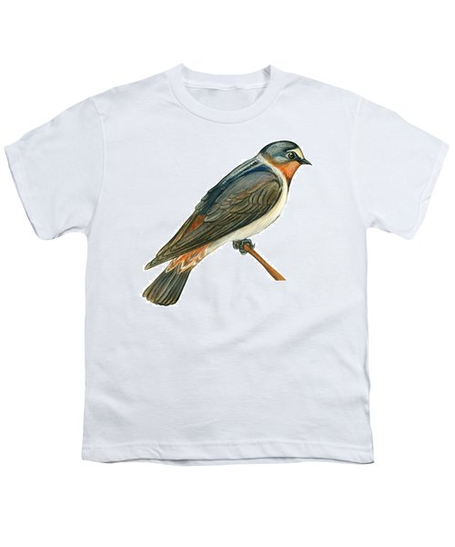Cliff Swallow  Youth T-Shirt by Anonymous