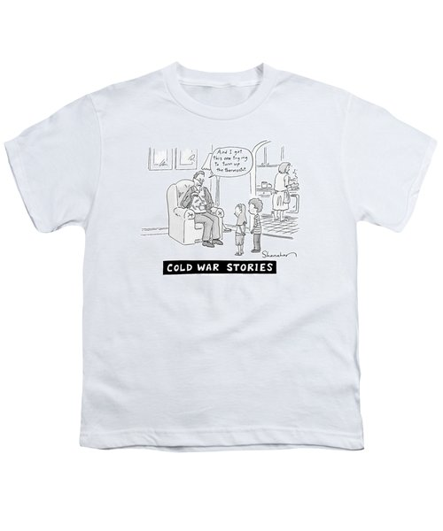 Cold War Stories. An Old Man Shows Children Scars Youth T-Shirt