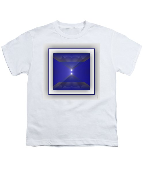 Youth T-Shirt featuring the digital art Color Light Transparencies by Mihaela Stancu