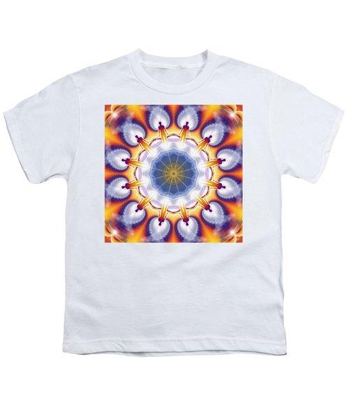 Cosmic Spiral Kaleidoscope 34 Youth T-Shirt by Derek Gedney