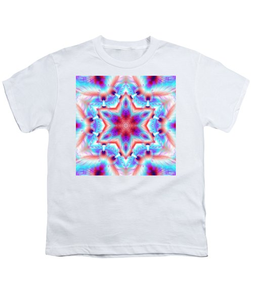 Cosmic Spiral Kaleidoscope 45 Youth T-Shirt by Derek Gedney