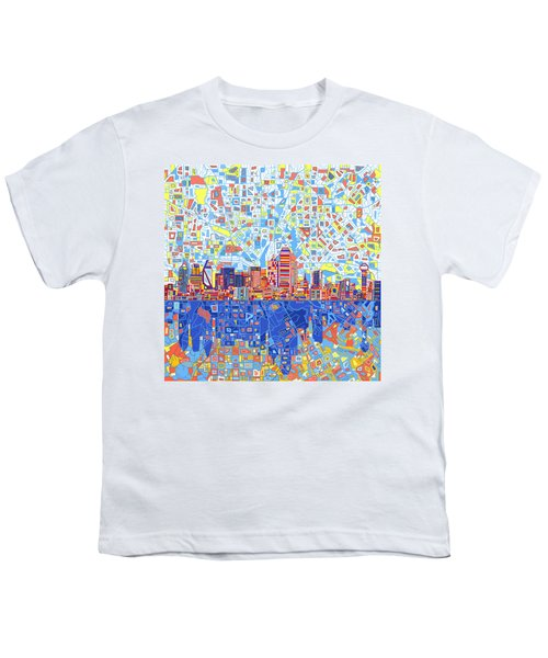 Dallas Skyline Abstract 5 Youth T-Shirt