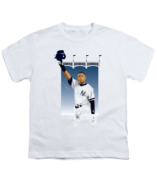 Derek Jeter 3000 Hits Youth T-Shirt by Scott Weigner
