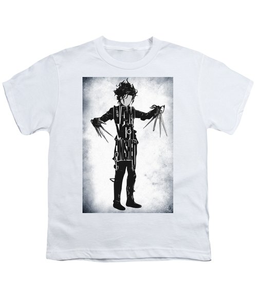 Edward Scissorhands - Johnny Depp Youth T-Shirt by Ayse Deniz