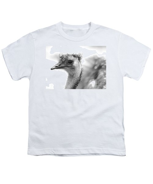 Emu - Black And White Youth T-Shirt by Carol Groenen