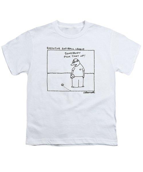 Executive Softball League Youth T-Shirt by Charles Barsotti