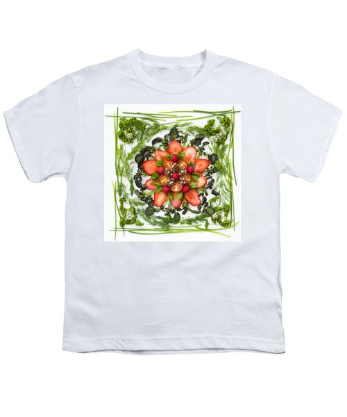 Fresh Fruit Salad Youth T-Shirt by Anne Gilbert