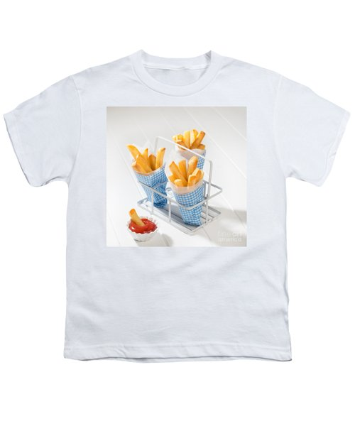 Fries Youth T-Shirt by Amanda Elwell
